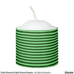 Dark Green & Light Green Stripes/Lines Pattern