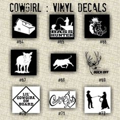 COWBOY Vinyl Decals  Car Sticker Kokopelli Decals - Vinyl stickers on cars