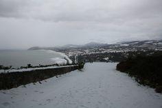 Killiney hill with snow