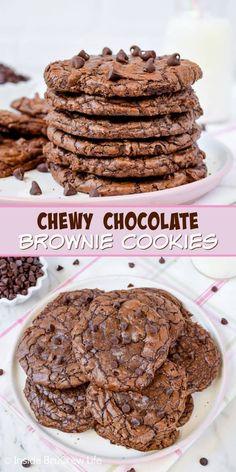Chewy Brownies, Best Brownies, Chocolate Brownies, Chocolate Chocolate, Chocolate Cherry, Homemade Brownies, Melted Chocolate, Chocolate Treats, Homemade Cookies