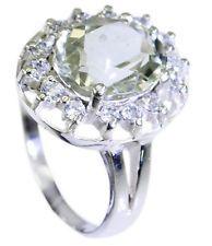 Green Amethyst 925 Sterling Silver Ring splendid Green jewelry AU gift