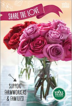 Show your love with #FairTrade roses from @WholeFoods Market. Perfect for #MothersDay. #FairMoms