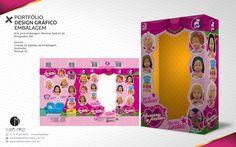 PORTFÓLIO DESIGN GRÁFICO EMBALAGEM Arte para embalagem Meninas Fashion da Brinquedos ZAP Serviço: Criação do logotipo da embalagem, Ilustração, Mockup 3D.