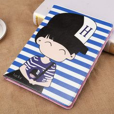 IPad case with cartoon boy and girl in love pattern for