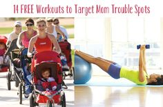 14 awesome and fun workouts targeting the trouble areas that come with being an amazing baby making machine.