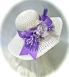 Lavender Kentucky Derby Hat Mother of the Bride by Marcellefinery