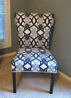 Diy Dining Chair Slipcovers : Diy Recover a Parsons Style Chair