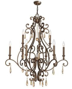 Crystorama 7529-DT Shelby 9 Light Distressed Twilight Chandelier