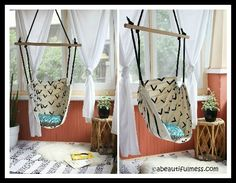 Hammocks- Relax in a Hammock Bed, Chair, or Swing. Diy Hammock, Hammock Chair, Hanging Chair, Relax, Fun, Furniture, Home Decor, Vegetable Gardening, Chaise Longue