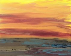 """Golden Hour Upon Us-VII by Kimberly Conrad Acrylic ~ 16"""" x 20"""""""
