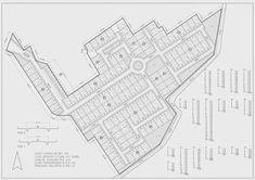 Berikut adalah disain perumahan yang teridiri dari 3 cluster didalamnya, dilengkapi dengan pertokoan di gerbang depan, dan sistem keamanan y... City Skylines Game, Site Plans, Card Companies, Master Plan, Autocad, Architecture Design, How To Plan, Cards, Urban Design