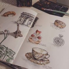Paris stuff . Sketch .watercolor 28.05.2015