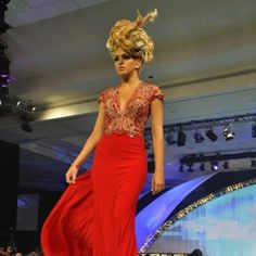 Wild blonde braided updo incorporating a chignon. Submission from Central America at the World of Hairdressing Farouk Cancun Conference!