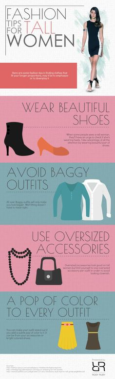 Fashion Tips for Tall Women #infographic #Fashion #Lifestyle
