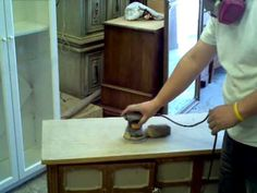 How to sand down an old desk top - Shabby Chic Buffet How To Tutorial | Shabby chic furniture how to