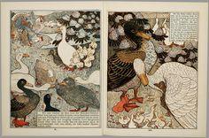Het leelijke jonge eendje, pag. 10-11: naar het sprookje / van H. C. Andersen ; geteekend en gelithographeerd door T. van Hoytema,Amsterdam, C.M. van Gogh, 1893