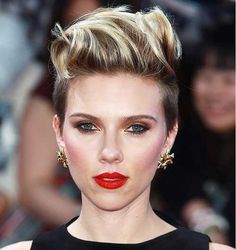 15 Best Short Punk Haircuts: #15. Scarlett Johansson with Short Punk Hair