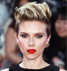15 Best Short Punk Haircuts: #15. Scarlett Johansson with Short Punk Hair