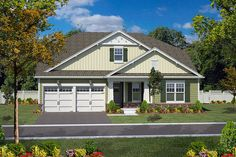 Bungalow home plan makes a nice empty-nester home for retirees. Features 2 bedrooms, 2 baths, a study, an open floor plan, and decorative elements; Bungalow House Plans, Ranch House Plans, Cottage House Plans, Best House Plans, Small House Plans, House Floor Plans, Farm House, Small Cottage Homes, Tiny Homes