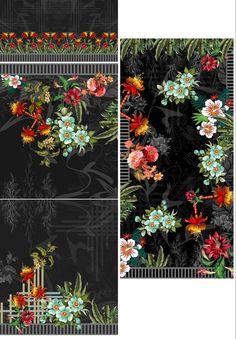 Textile Prints, Textile Design, Textiles, Paisley Art, 3 Piece, Print Design, Digital, Floral, Model