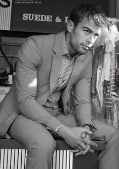 Theo James. He will play Four in the upcoming Divergent movies...