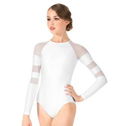 Adult Long Sleeve Mesh Leotard - Style No N8847