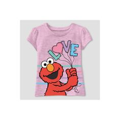 Toddler Girls  Sesame Street Elmo Short Sleeve T-Shirt - Pink - 2T 77b2be915