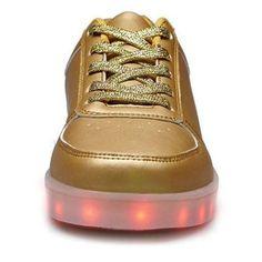 Zapatillas Con LED Nubuck Bajos Mujer
