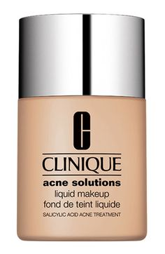 Clinique 'Acne Solutions' Liquid Makeup. By far the BEST foundation for oily skin! It has great full coverage for troubled skin and acne. Love this stuff!