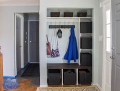 Entry Way Closet Makeover • Roots & Wings Furniture LLC