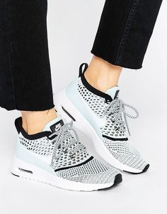 the best attitude c82e9 c8f96 Shop Nike Air Max Thea Ultra Flyknit Trainers In Blue at ASOS.