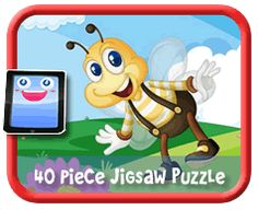 Bumble Bee - 40 Piece Online jigsaw puzzle for kids