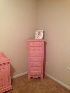 pink nursery furniture. DIY Shabby Chic Baby Furniture. Chalk Paint, Annie Sloan Paint. I Had Pink Nursery Furniture