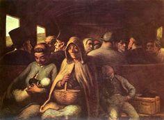 "Giovanni Fattori  GIOVANNI FATTORI (Livorno 1825 - Firenze 1908)  Terza Classe (Third Class)   ""Macchiaioli"" Painters    #TuscanyAgriturismoGiratola"