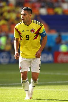 Radamel Falcao of Colombia in action during the 2018 FIFA World Cup Russia group H match between Colombia and Japan at Mordovia Arena on June 19 World Cup 2018, Fifa World Cup, Carlos Valderrama, Fifa 20, Football Players, June 19, Curly Hair Styles, Russia, Soccer