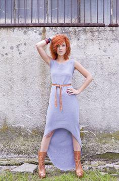 Hi-low Rib Grey Jersey Dress by Manitic on Young Republic - http://www.youngrepublic.com/women/dresses/casual/hi-low-rib-grey-jersey-dress.html