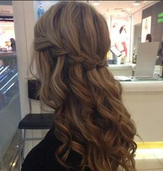 Fabulous waterfall braid..hairstyle for Julie's wedding!!! <3
