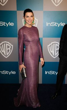 Julianna Margulies carries VBH to the 13th Annual Warner Bros. And InStyle Golden Globe Awards After Party