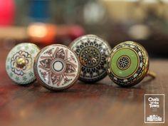 Σετ από 4 Vintage Κεραμικά Πόμολα - Μαροκινά   Vintage Ceramic Moroccan  Knobs (set of 4) Vintage Ceramic, Class Ring, Ceramics, Jewelry, Ceramica, Pottery, Jewlery, Jewerly, Schmuck