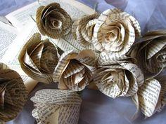 Paper Flowers Vintage PAPER FLOWERS rustic origami by moniaflowers