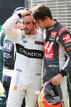 """Alonso:""""For a moment I saw God and he said not yet Fernando!"""""""