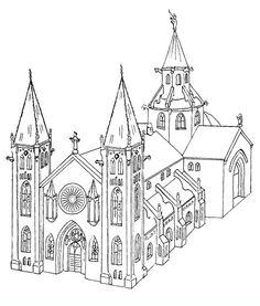 churches_3 Adult coloring pages