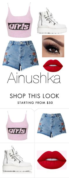 """""""Untitled #69"""" by halissiaelviracra on Polyvore featuring Alexander Wang, Miss Selfridge and Puma"""