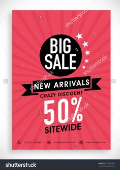 Stylish Big Sale Poster, Banner Or Flyer Design With Discount Offer On New…