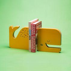 aparador de livros baleia adot, acrílico, descolado