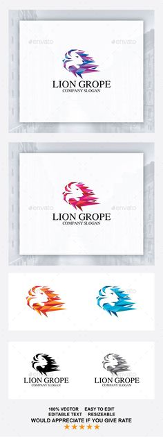 Lion Logo — Vector EPS #event #pixel triangle • Available here → https://graphicriver.net/item/lion-logo/19271750?ref=pxcr