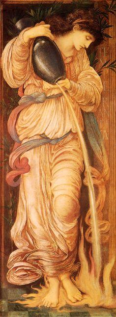 pre-raphaelisms:  Edward Burne-Jones - Temperantia, 1872