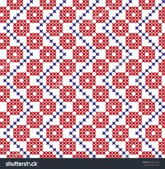 Seamless Embroidered National Ornament Stock Vector Illustratie 459441862 : Shutterstock