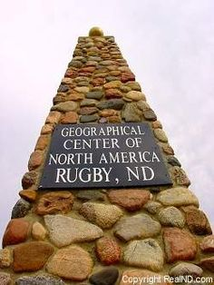 Geographical Center of North America, Rugby, North Dakota.