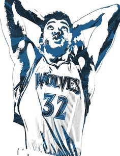 594c9ae8a Karl Anthony Towns Minnesota Timberwolves Pixel Art Art Print by Joe  Hamilton